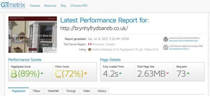 Brynhyfryd test report screenshot