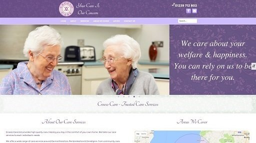 Croeso Care Services website screenshot