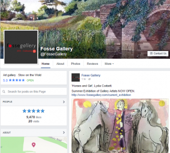 fosse gallery facebook page screenshot