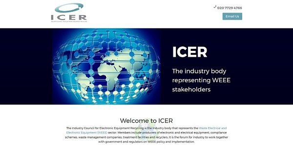 Icer website screenshot