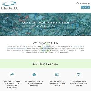 Icer website screenshot