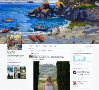 Lucy Pratt Twitter page screenshot