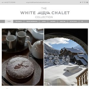 The White Chalet Collection website screenshot