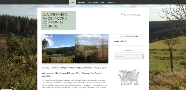 Llanfihangel Rhos-y-Corn Community Council Website Screenshot