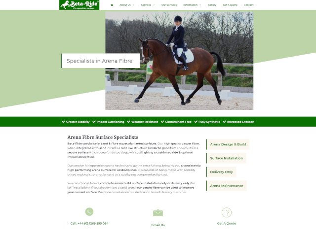 Beta-Ride website screenshot