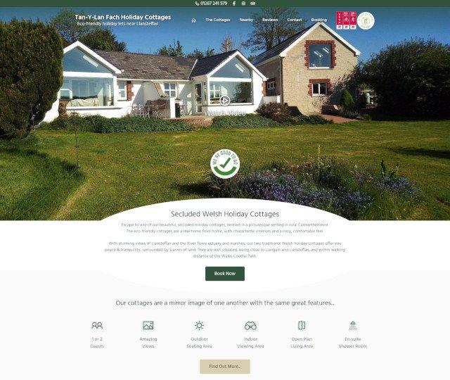 Tan-Y-Lan Fach website screenshot